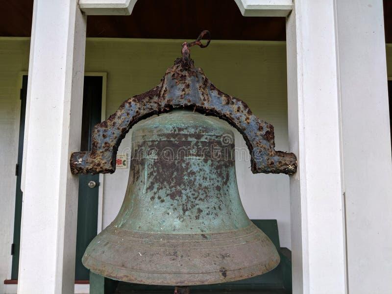 Historische Klok de Opdrachtzaal bij de Kerk van Waioli Huiia royalty-vrije stock fotografie