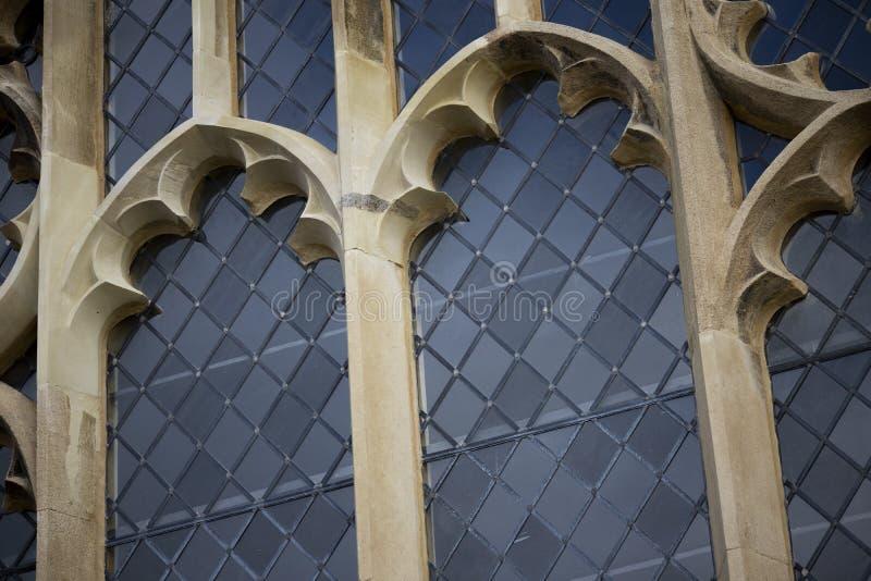Historische leaded vensters royalty-vrije stock afbeelding