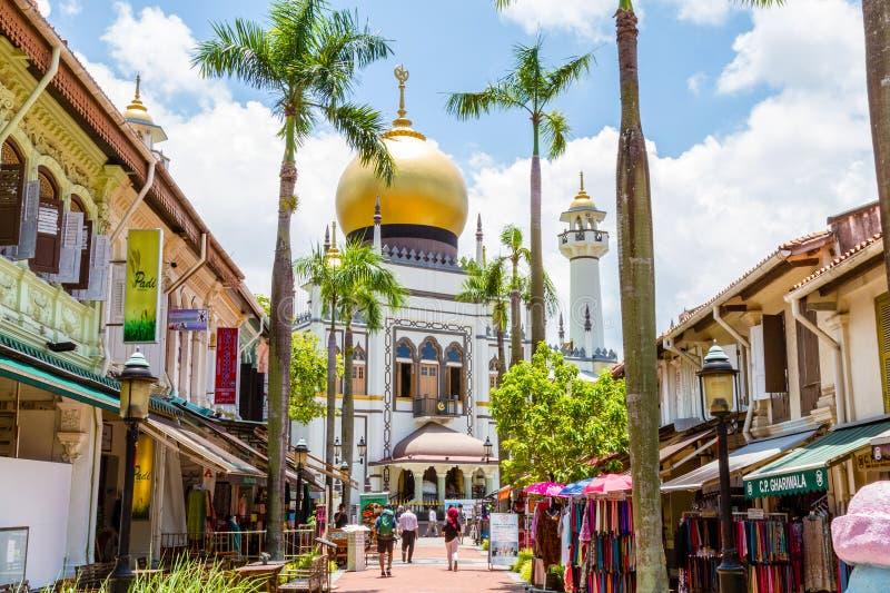 Historische Masjid Sultan Mosque in Singapore stock fotografie