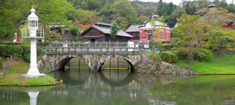 Historische Meiji mura in Japan stock afbeeldingen