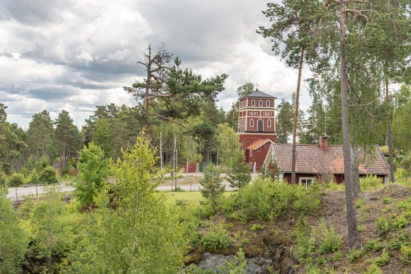 Historische mijnbouwplaats in Sala in Zweden royalty-vrije stock foto's