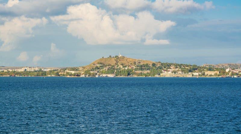 Historische Mithridates-berg in Kerch stock foto's