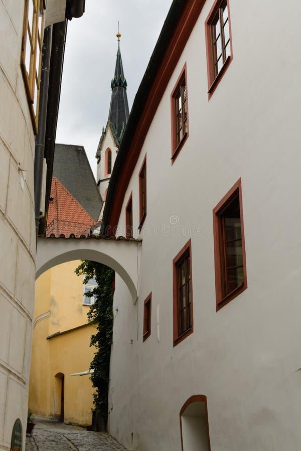 Historische Mitte Cesky Krumlov stockfotos