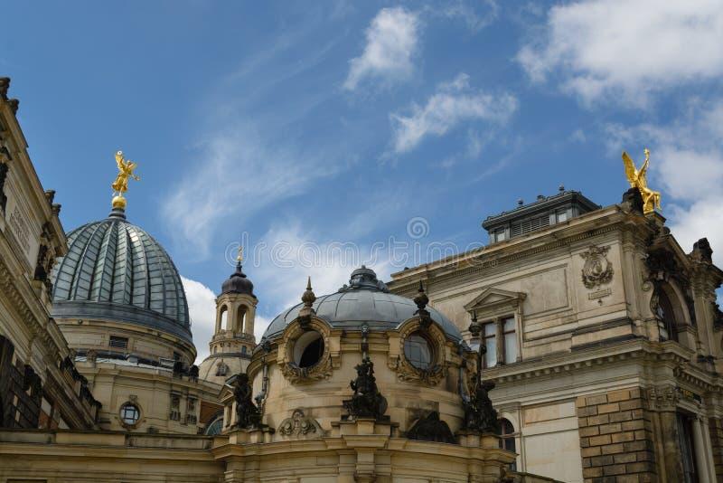 Historische Mitte Dresdens stockbilder