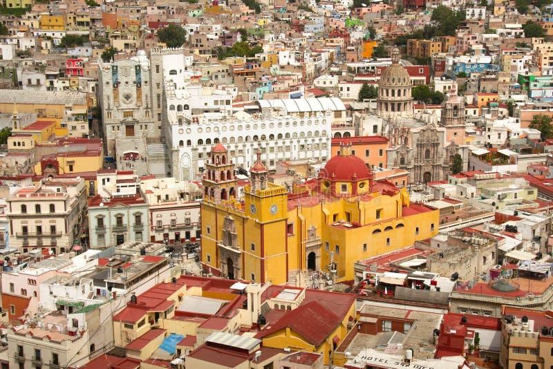Historische Mitte Guanajuato-Stadt stockbild