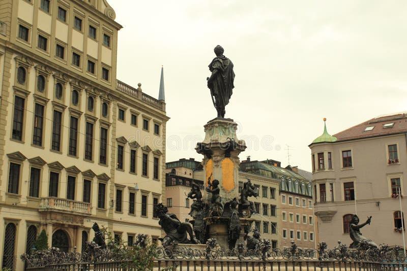 Historische Mitte von Augsburg stockfoto