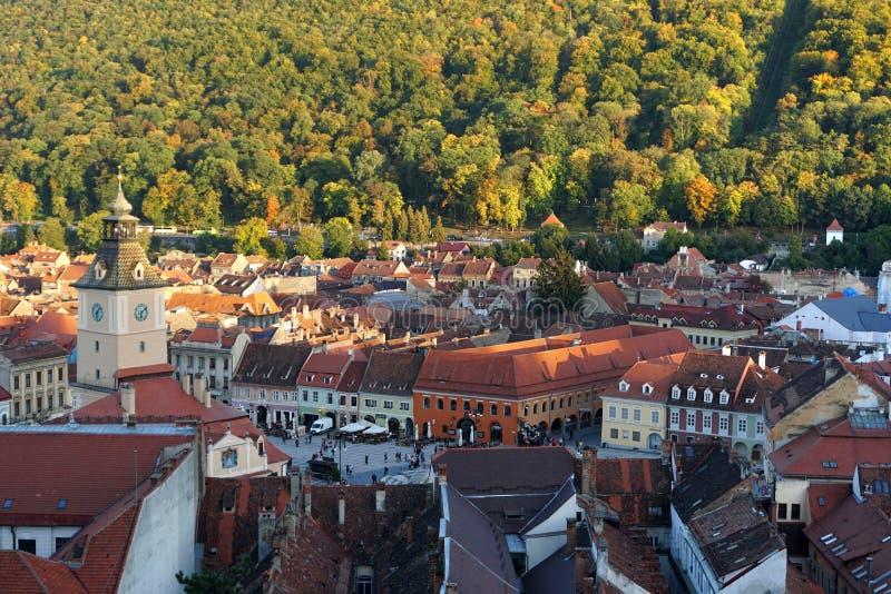Historische Mitte von Brasov, Rumänien stockfotos
