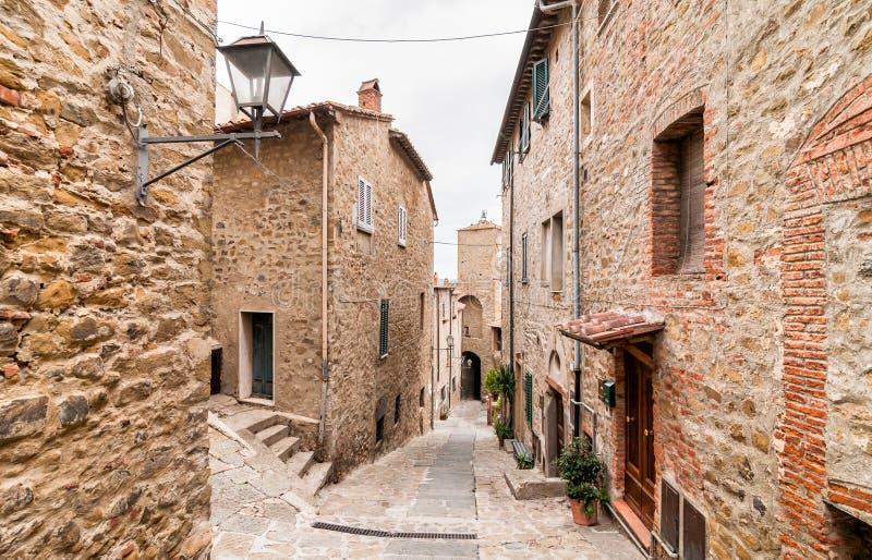 Historische Mitte von Castiglione-della Pescaia, Toskana, Italien stockfoto