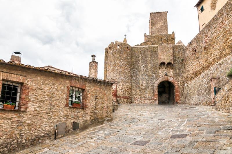 Historische Mitte von Castiglione-della Pescaia, Toskana, Italien lizenzfreies stockfoto