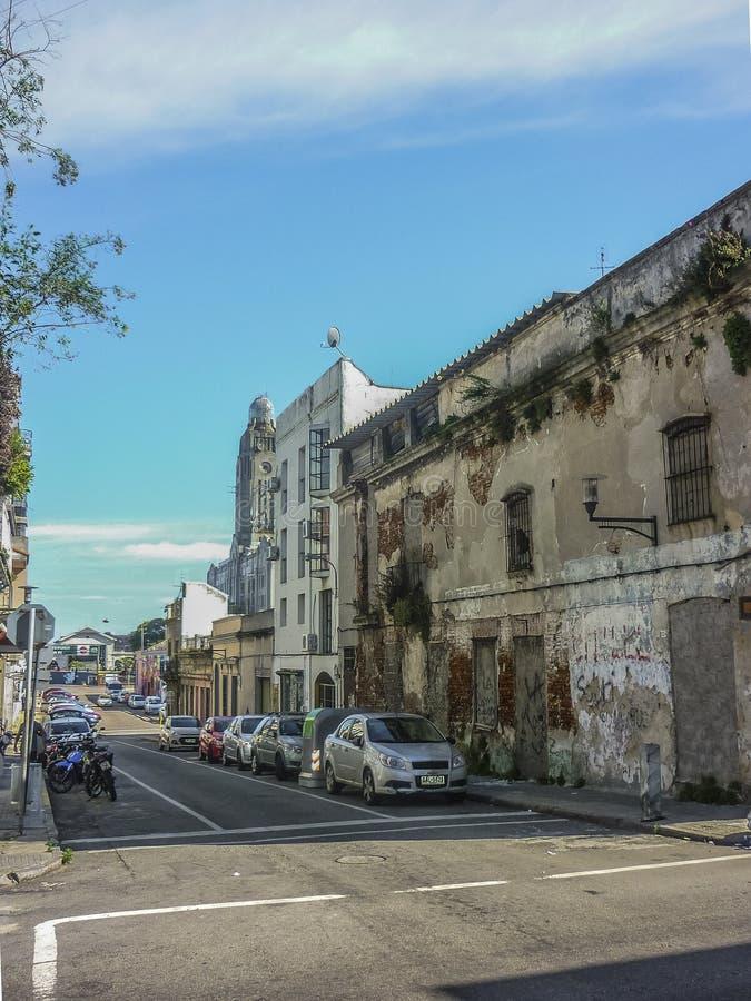 Historische Mitte von Montevideo stockbilder