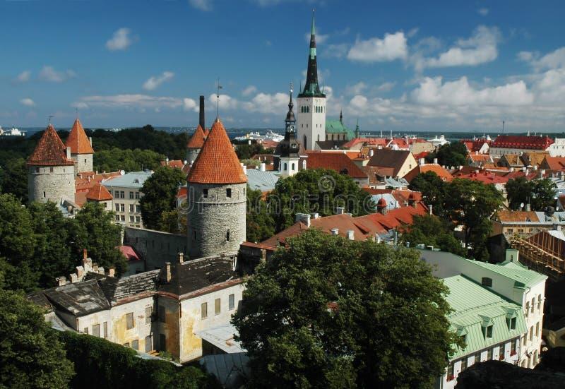 Historische Mitte von Tallinn. lizenzfreie stockfotos