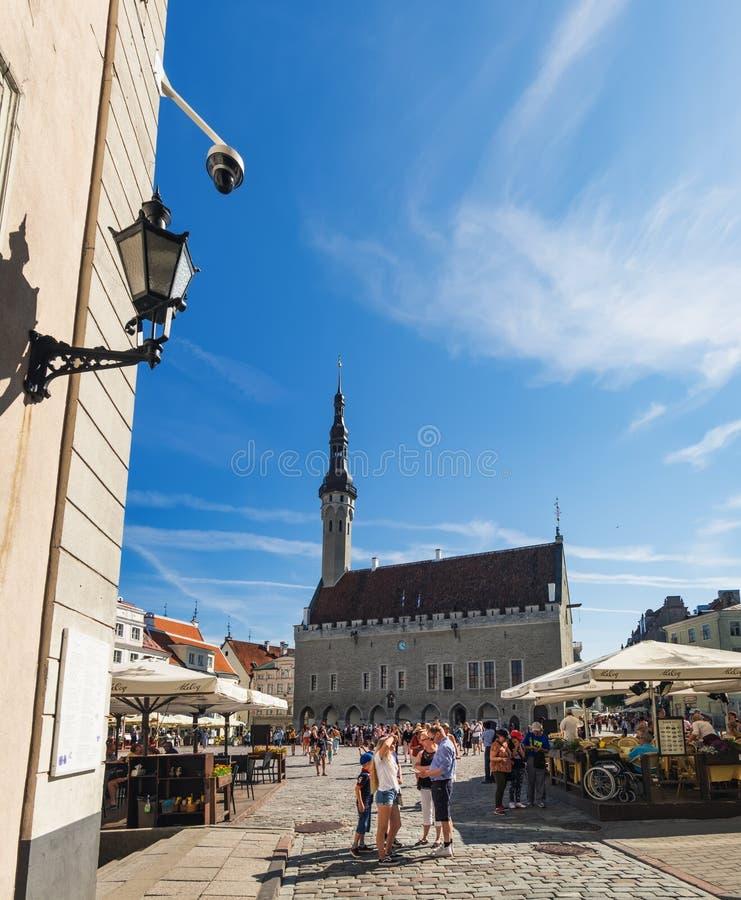 Historische Mitte von Tallinn, Estland lizenzfreies stockfoto