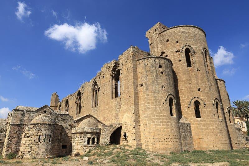 Historische monumenten en gebouwen in de stad van Famagusta, Noordelijk Cyprus stock afbeeldingen