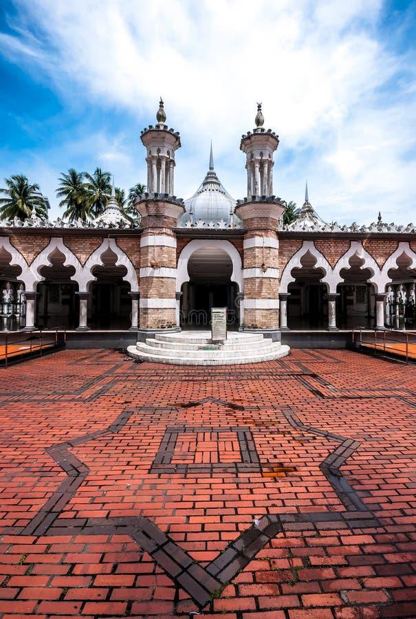 Historische moskee, Masjid Jamek in Kuala Lumpur, Maleisië stock foto's