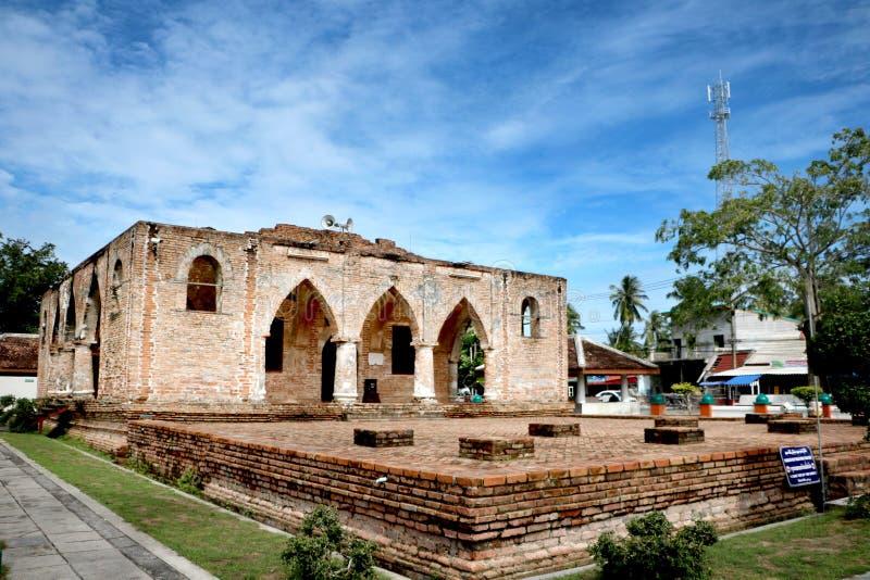 Historische Moskee in Zuidelijk van Thailand royalty-vrije stock afbeelding
