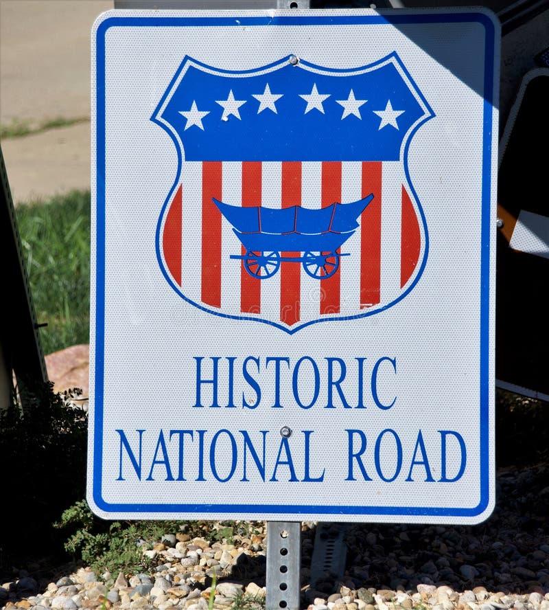 Historische nationale Straße lizenzfreie stockfotos