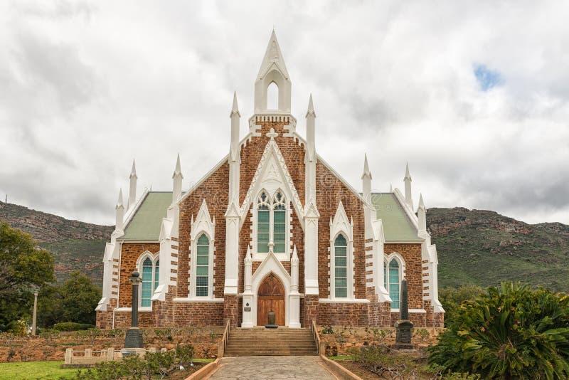 Historische Nederlandse Opnieuw gevormde Kerk in Piketberg in Swartland-Reg. royalty-vrije stock afbeelding