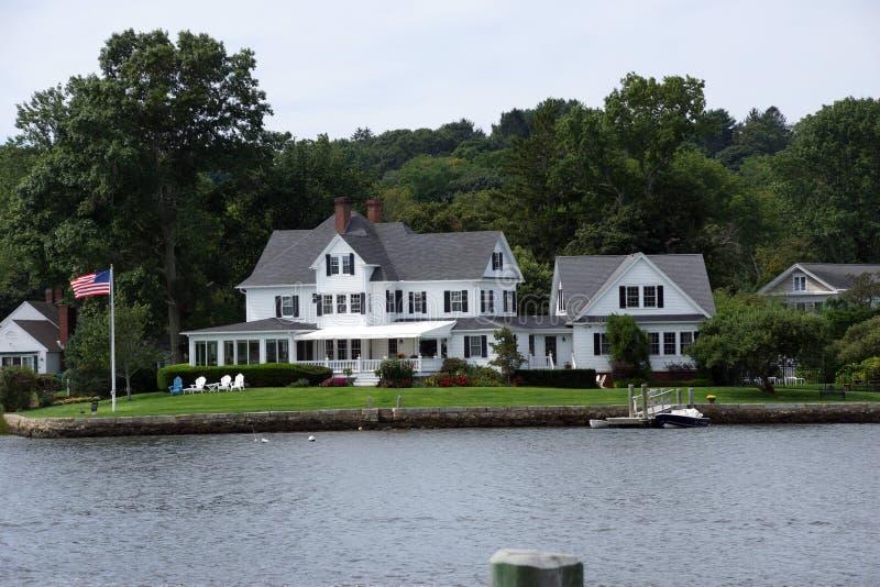Historische neue Enlgand-Villa stockfoto