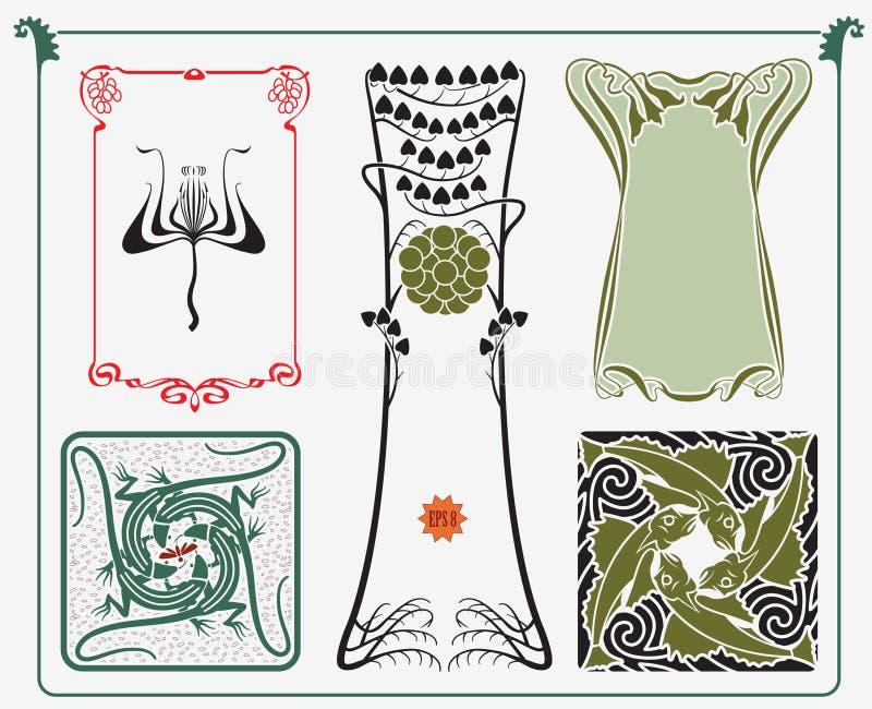 Historische ontwerpinzameling vector illustratie