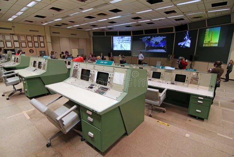 Historische Opdracht Control Center royalty-vrije stock foto's