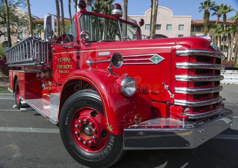 Historische Oude Brandmotor van Tempe Arizona royalty-vrije stock afbeelding