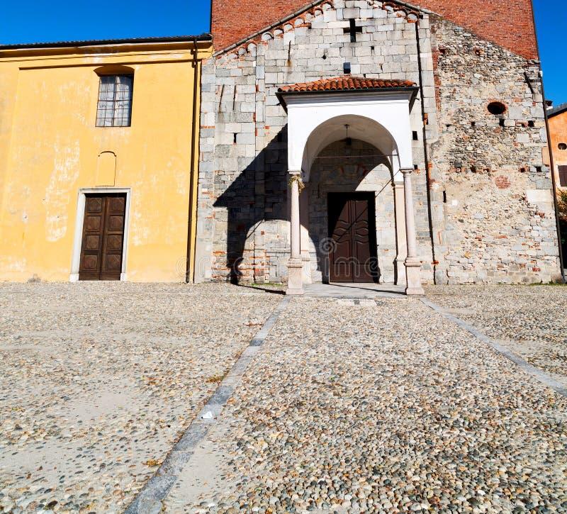 historische oude christelijke oud van Europa in religi van Italië Milaan royalty-vrije stock foto
