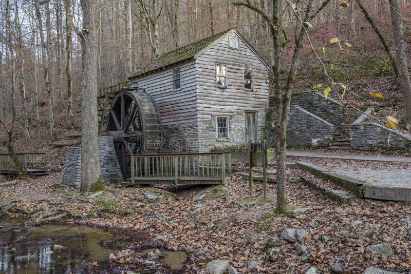 Historische Oude Maalkorenmolen - Tennessee royalty-vrije stock foto