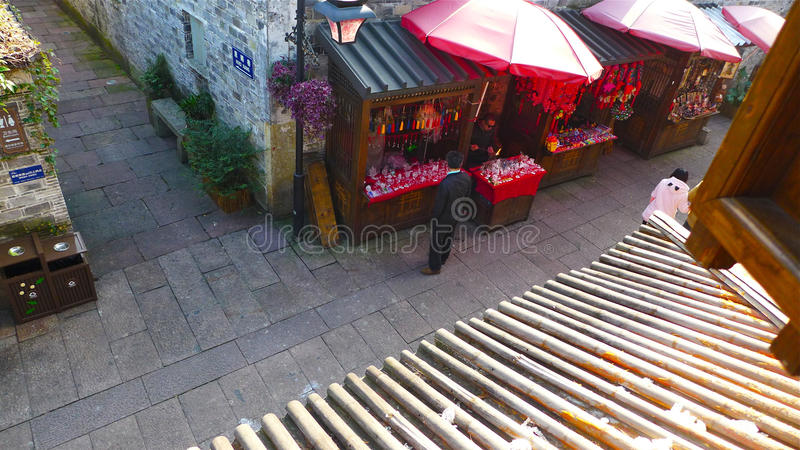 Historische Oude Stad Ningbo, China royalty-vrije stock foto