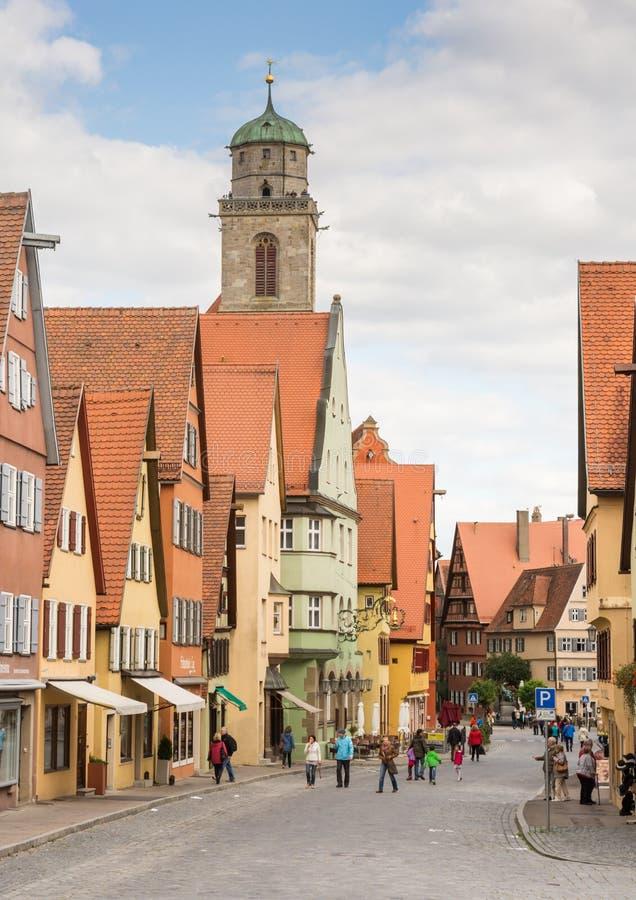Historische oude stad van Dikelsbuehl stock foto's