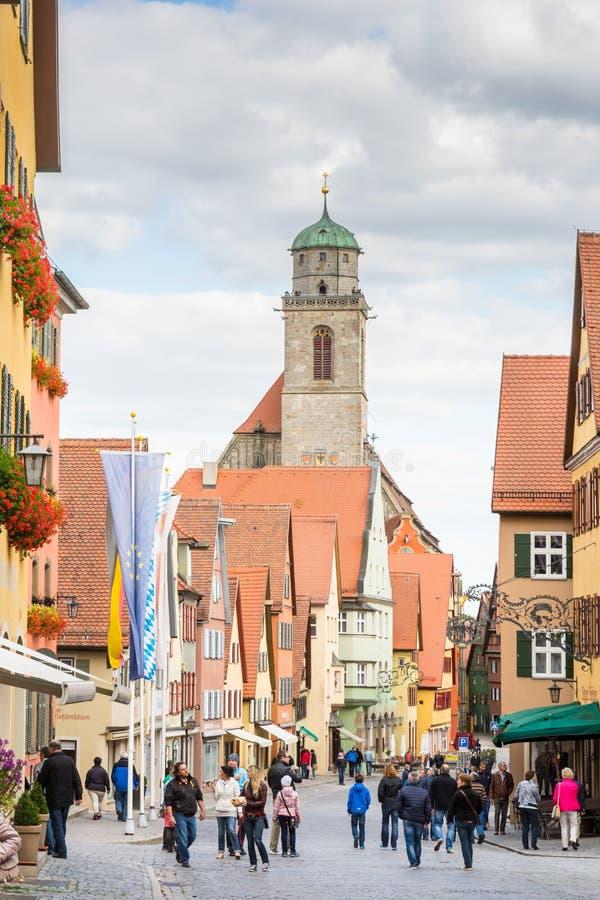 Historische oude stad van Dikelsbuehl stock foto