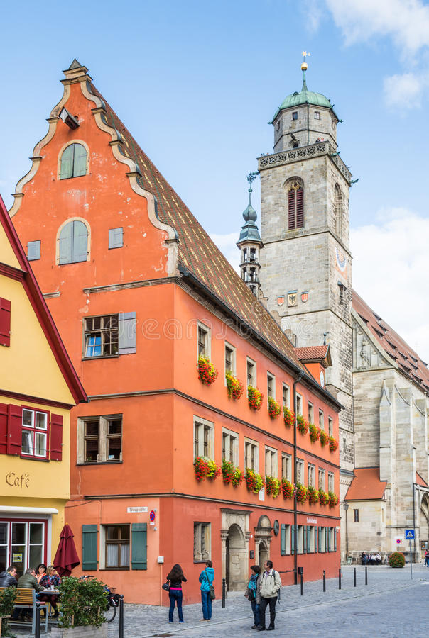 Historische oude stad van Dikelsbuehl stock fotografie