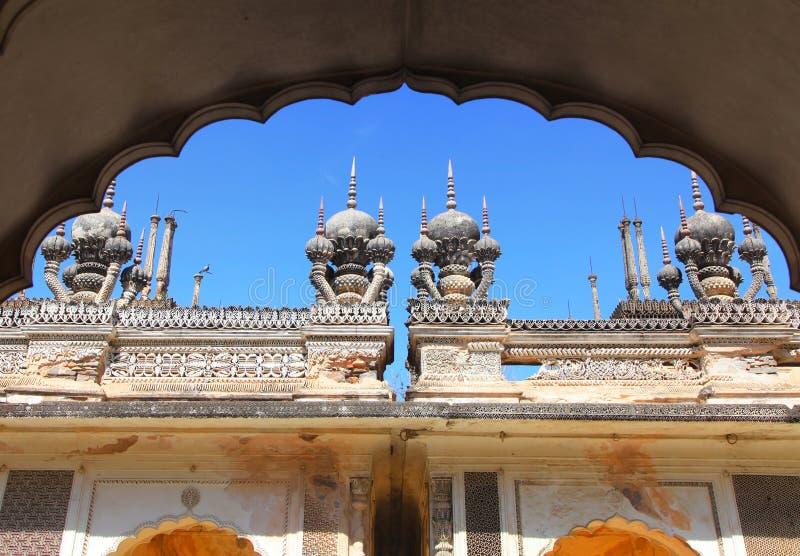Historische Paigah-Gräber in Hyderabad, Indien stockbilder