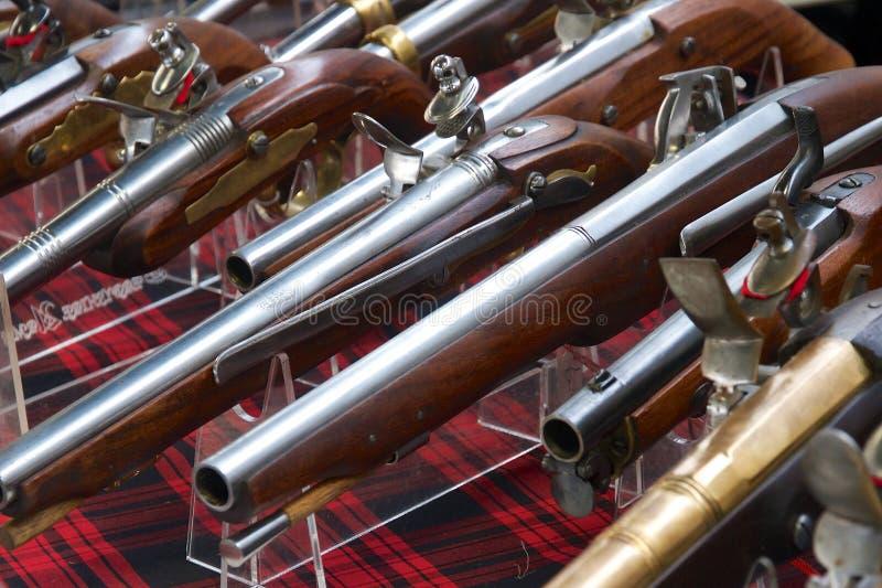 Historische Pistolen royalty-vrije stock foto's