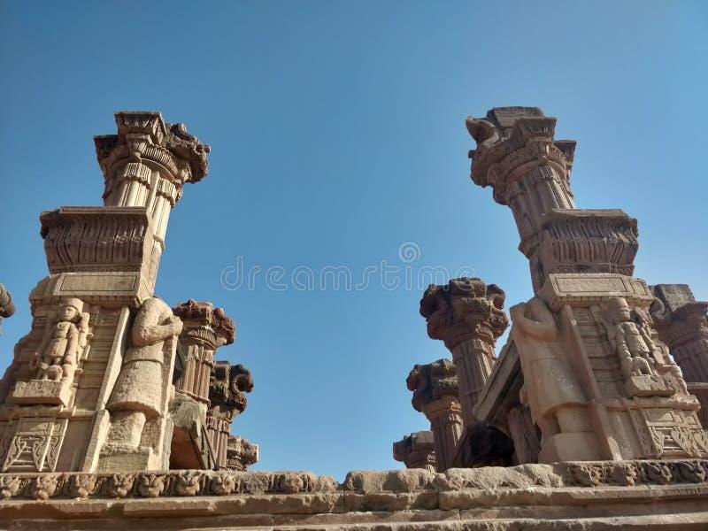 Historische plaats en Architectuurstructuurpijler van Bhuj, Gujarat royalty-vrije stock fotografie