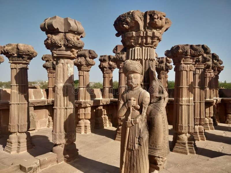 Historische plaats en Architectuurstructuurpijler van Bhuj, Gujarat stock foto