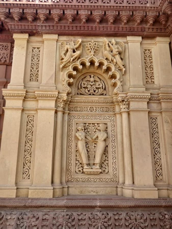 Historische plaats en Oude Architectuur van Bhuj, Gujarat stock fotografie