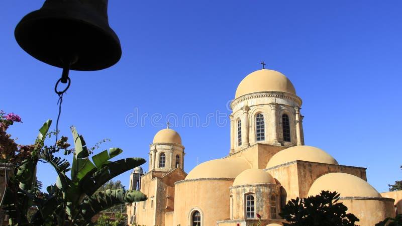 historische plaats oude kerk van Agia Triada in het Eiland van Kreta Griekenland stock fotografie