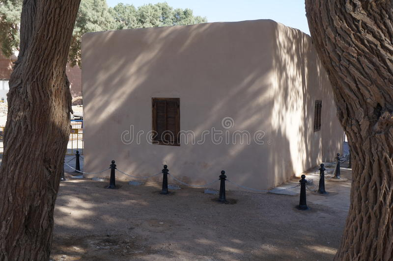 Historische plaats Umm Rashrash in Eilat, Israël stock foto