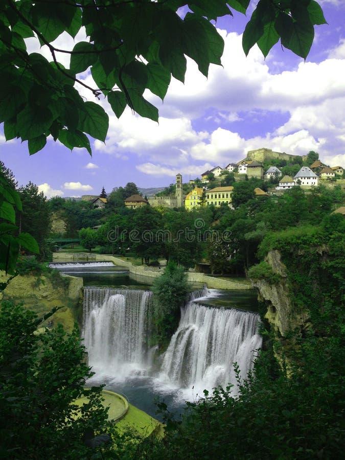 Historische plaatsen in Bosnië-Herzegovina stock afbeelding