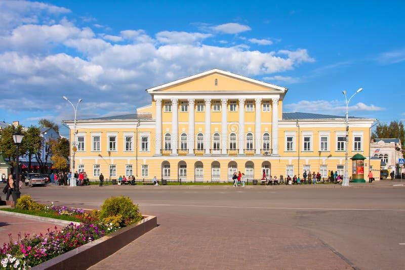 Historische privé woonplaats van Kostroma stock foto