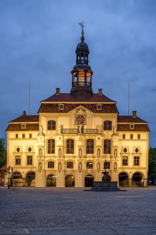 Historische Rathaus in Luneburg lizenzfreies stockfoto