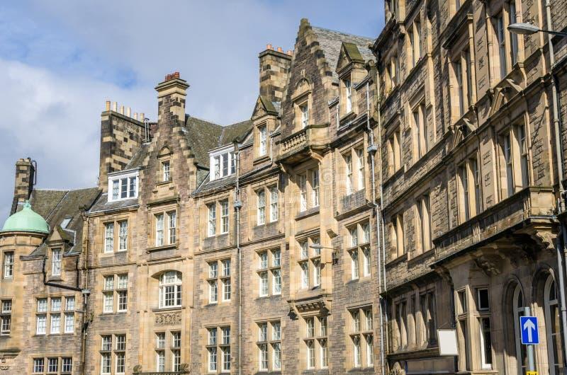 Historische Rijtjeshuizen in de Stadscentrum van Edinburgh royalty-vrije stock fotografie