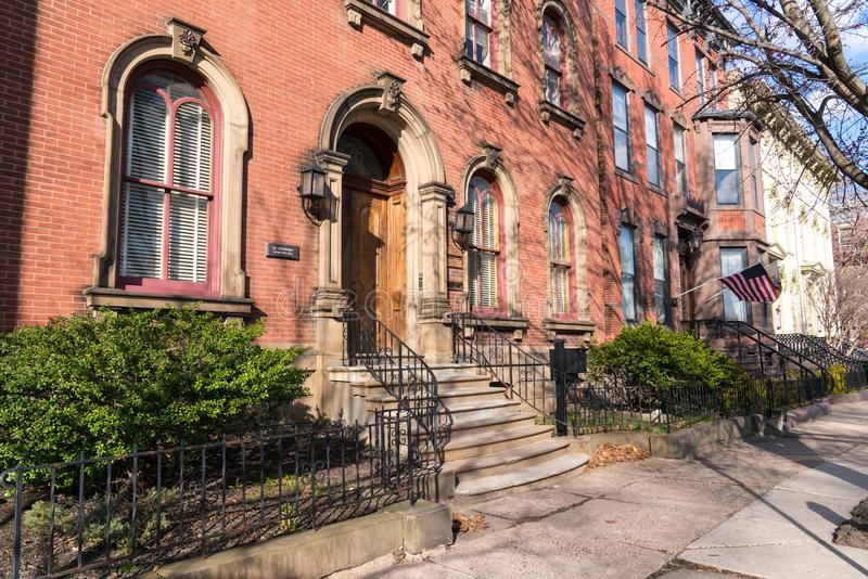 Historische Rijtjeshuizen in Trenton New Jersey royalty-vrije stock foto