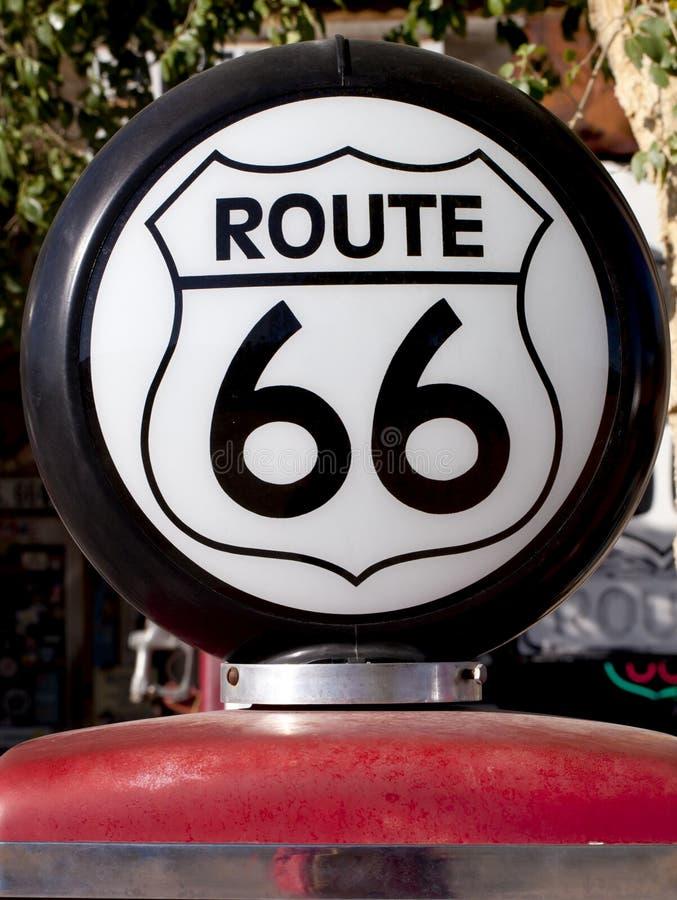 Historische Route 66 het Licht van het Gas stock foto
