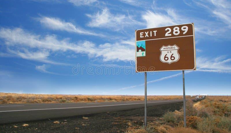 Historische Route 66 teken stock afbeelding