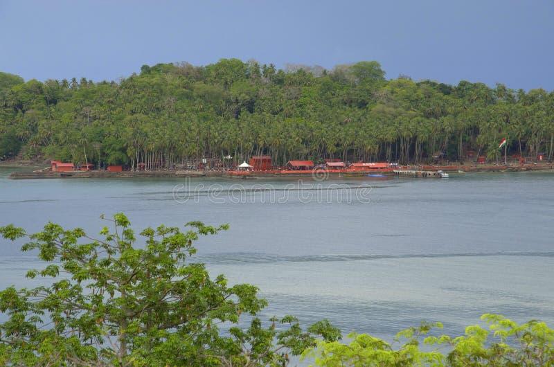 Historische Ruinen, Ross Island, Andaman und Nikobaren lizenzfreies stockbild