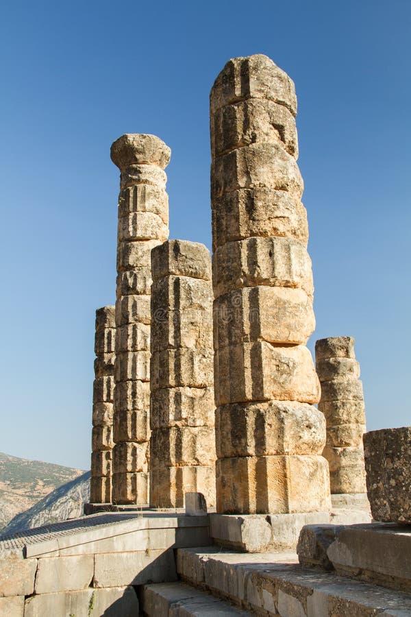 Historische ruines in oud Griekenland stock afbeelding