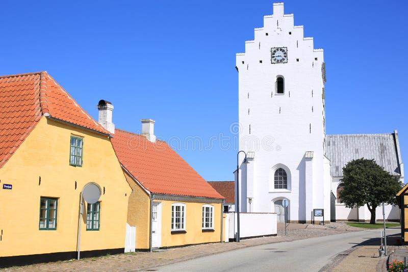 Historische Saeby in Jutland, Denemarken stock foto