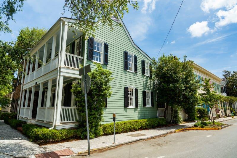Historische Savannah Home royalty-vrije stock afbeelding