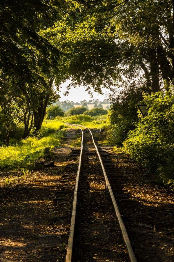 Historische schmale Bahnstrecke. Polen, Znin. lizenzfreie stockfotografie